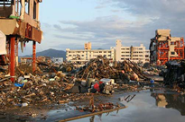 photo of destroyed buildings