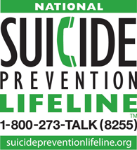 Logo for National Suicide Prevention Lifeline