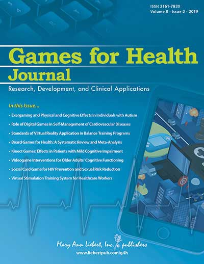Image of a cover of the Games for Health Journal, Volume 8, Issue 2 - 2019