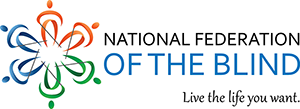 Logo and slogan of the National Federation of the Blind